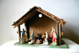 vintage christmas decor classic nativity scene