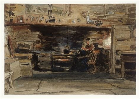 'Cottage Interior in North Wales', James Holland   Tate