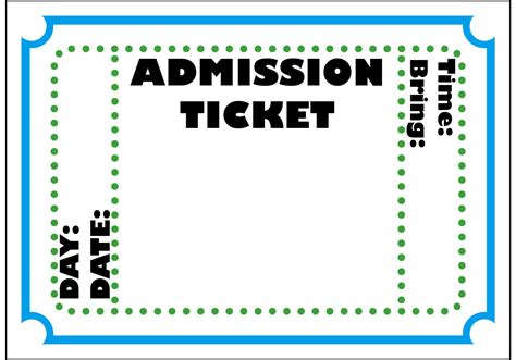 broadway ticket template ticket cliparts