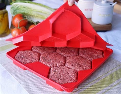 cuisine recipes easy burger master innovative 8 in 1 burger press freezer container shape and store