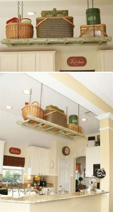 kitchen hanging storage 31 diy hanging shelves for every room in your home 1791