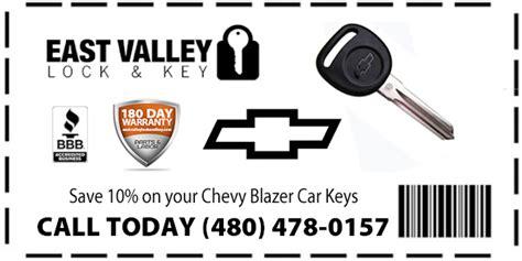 Chevy Trail Blazer & S-10 Replacement Car Keys + 180 Day