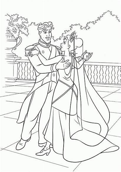 Coloring Pages Disney Frog Printable Princess Tiana