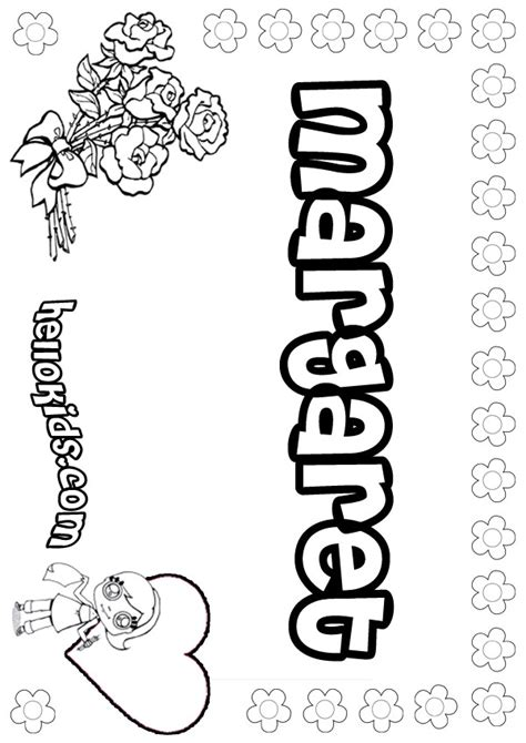 Coloring Names by Margaret Coloring Pages Hellokids