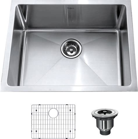 kitchen sinks for kraus 23 inch undermount single bowl 16 stainless 6074