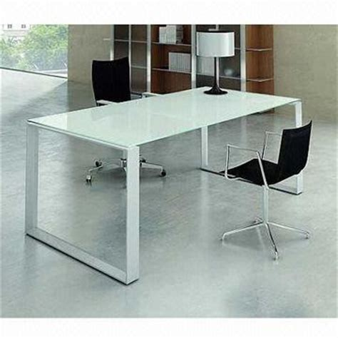 metal and glass office desk glass office table glass top metal base modern drafting