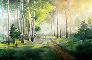 Harmoney With Nature by artist Jitendra Sule watercolor