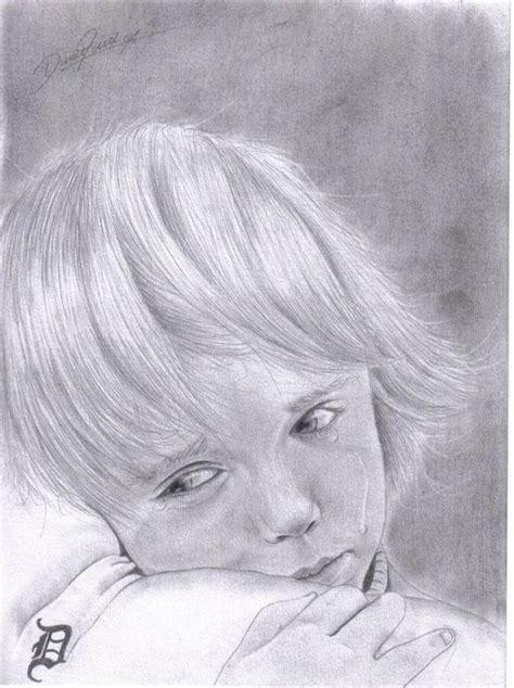kid traenen kind zeichnen weinen von daniel bei kunstnet