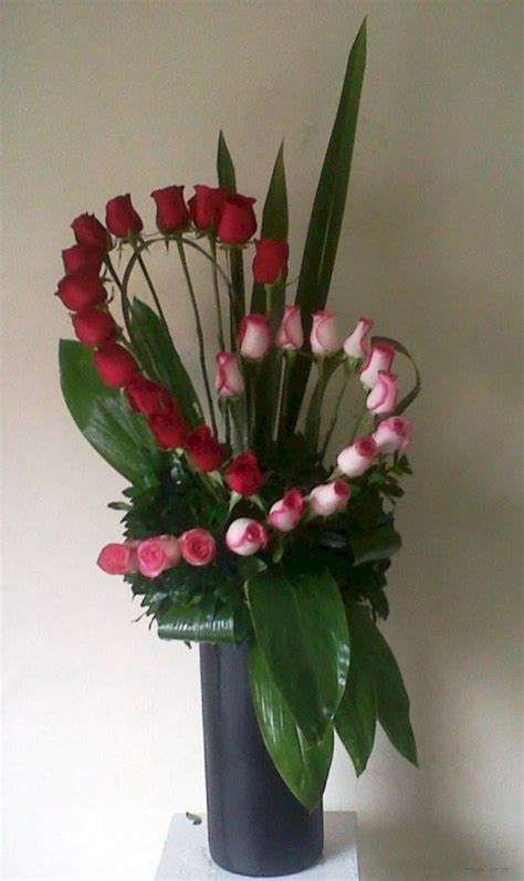 Pink and Red Roses Flower Arrangement
