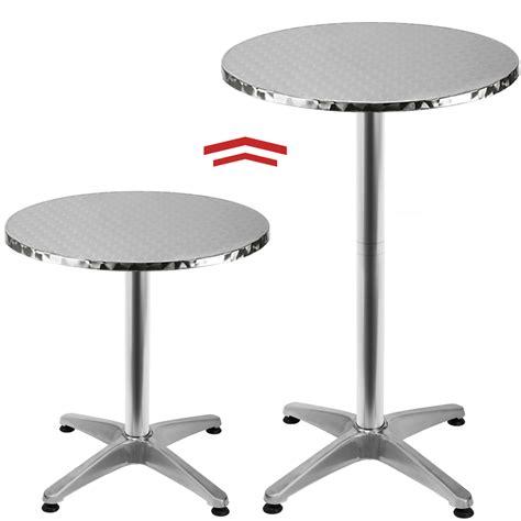Table De Bistrot Table De Bar Table Haute Bistrot Aluminium Table Ronde Acier Inox Ebay