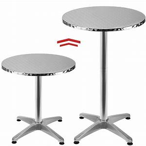 Table Bar Ronde : table de bar table haute bistrot aluminium table ronde acier inox ebay ~ Teatrodelosmanantiales.com Idées de Décoration