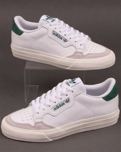Adidas Continental Vulc Trainers White/Green - 80s Casual ...