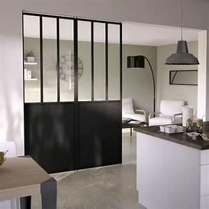 separation en verre cuisine salon 4 ide dco salon meuble With separation en verre cuisine salon