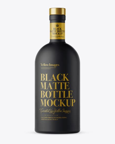 The featured smart object option enables you to. Black Matte Bottle Mockup - Front View in Bottle Mockups ...