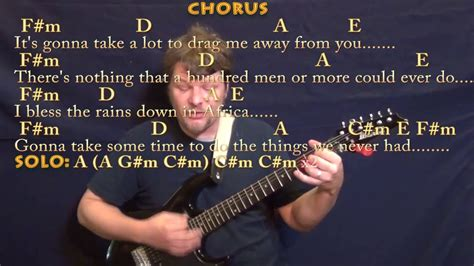 Africa (toto) Guitar Cover Lesson In C#m With Chords