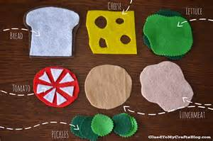 play kitchen ideas felt sandwich busy bag idea glued to my crafts