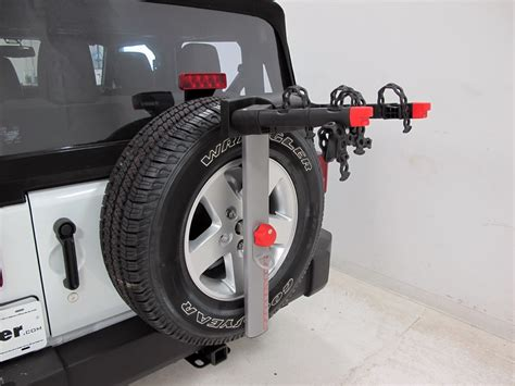 jeep wrangler bike rack 2016 jeep wrangler yakima sparetime 2 bike carrier spare