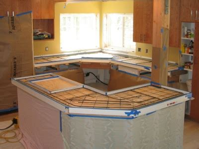 Pour Concrete Countertop In Place by Poured In Place Concrete Countertops What Are Some Of