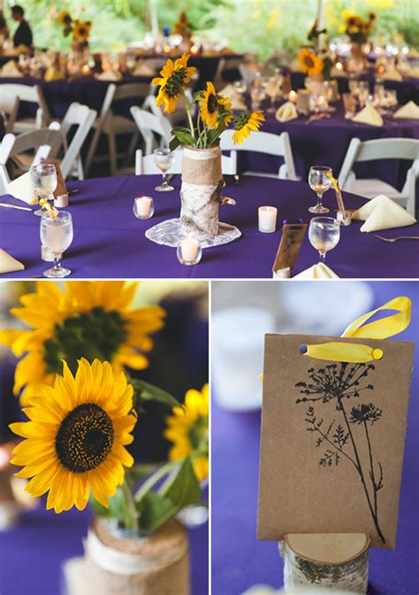 blog purple and yellow summer wedding ideas