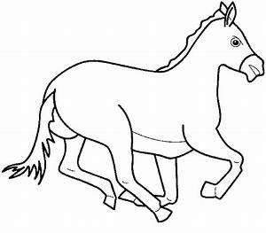 color page horse - cal planse de colorat si educative