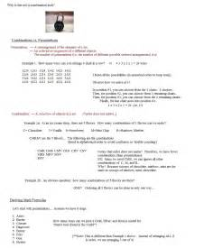 Pictures Permutation And Combination Worksheet - Toribeedesign