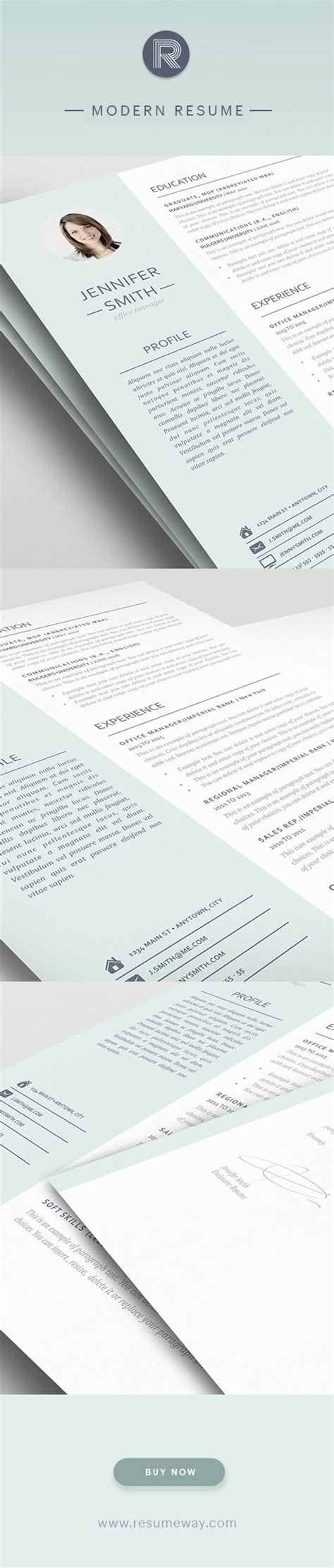 1000 images about modern resume templates on