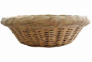 French Antique Round Wicker Bakers Bread Basket | Omero Home