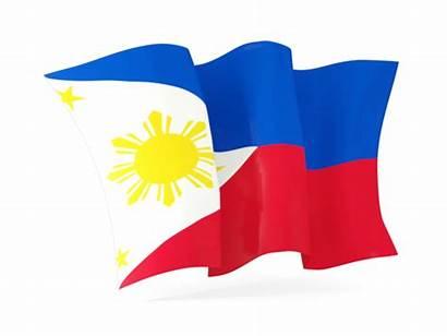 Flag Philippines Clipart Waving Philippine Illustration Clip