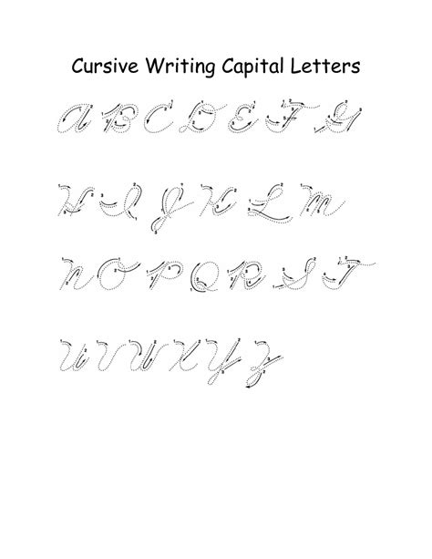 cursive capital letters alphabet capital letters activity shelter 25325