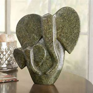 African Shona Elephant Sculpture - National Geographic Store