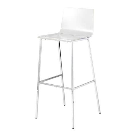 maison du monde chaise de bar chaise de bar en plastique acrylique et métal transparente seattle maisons du monde