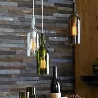 wine bottle pendant light Recycled Wine Bottle Pendant Lamp - Industrial - Pendant ...