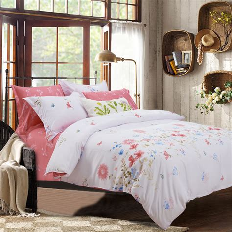 white shabby chic bedding sets shabby chic comforters and quilts pink and white bed sheets floral bed linen microfiber