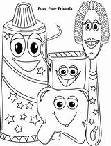 Dental Coloring Health Preschool Dentist Colouring Tooth Sheets Teeth Friends Toddlers Four Fine Toddler Hygiene Activities Week sketch template