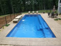 Swimming Pool Design Shape Fiberglass Swimming Pools For Unique Shape Of Pool Grey Floor Outdoor