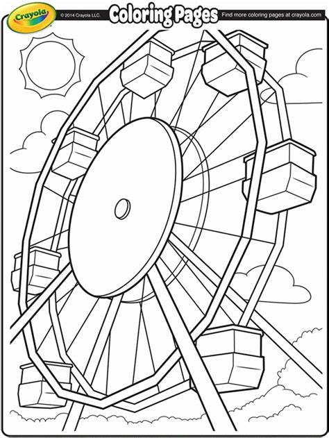 ferris wheel coloring pages coloring home