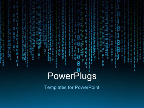 powerpoint template  lot  binary number threads