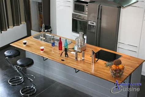 largeur bar cuisine implantation cuisine avec ilot cuisson ilot repas ilot