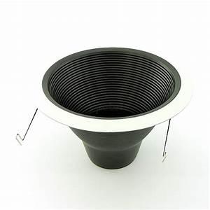 Quot recessed lighting air tight black baffle white trim