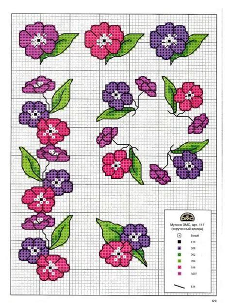schemi punto croce fiori punto croce piccoli fiori sul filo di