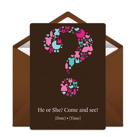 ideas  gender reveal invitations