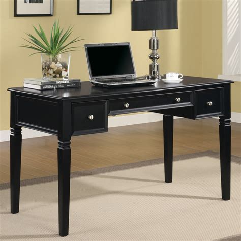 coaster computer desk black shop coaster furniture black writing desk at lowes