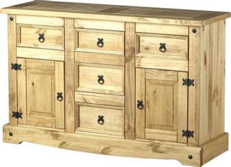 Corona Mexican Pine Sideboard by Corona Mexican Pine 2 Door 5 Drawer Sideboard