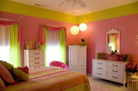 adorable pink  green bedroom designs  girls rilane