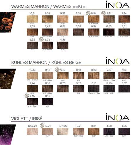 inoa color chart l oreal inoa carmilane haarfarbe 60 ml 140450