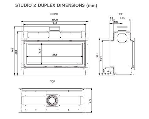 Insert à gaz Studio 2 Duplex   Stovax & Gazco