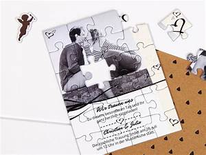 Hochzeitseinladungen Selbst Gestalten : einladungskarten zur hochzeit als puzzle selbst gestalten ~ A.2002-acura-tl-radio.info Haus und Dekorationen