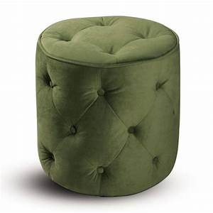 Retro Contemporary Round Ottoman