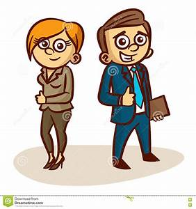 Business clipart men and woman - Pencil and in color ...
