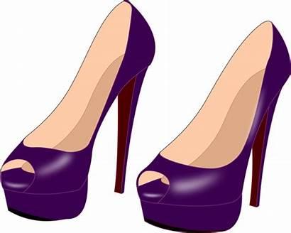 Heels Heel Shoes Clipart Shoe Clip Purple